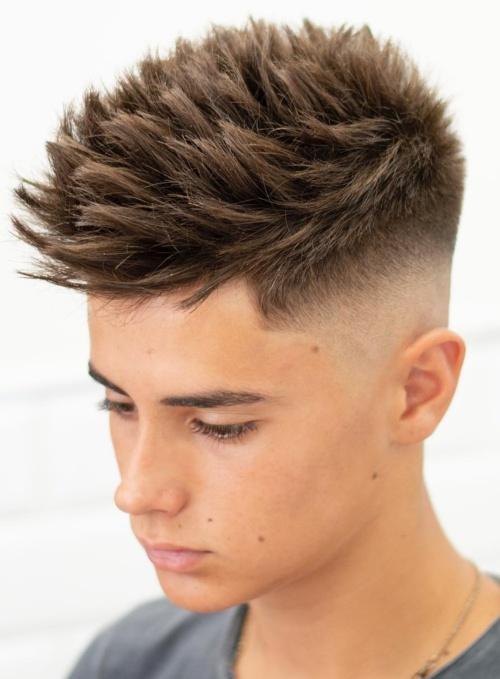 spiky haircut teen boy hairstyle low fade haircut