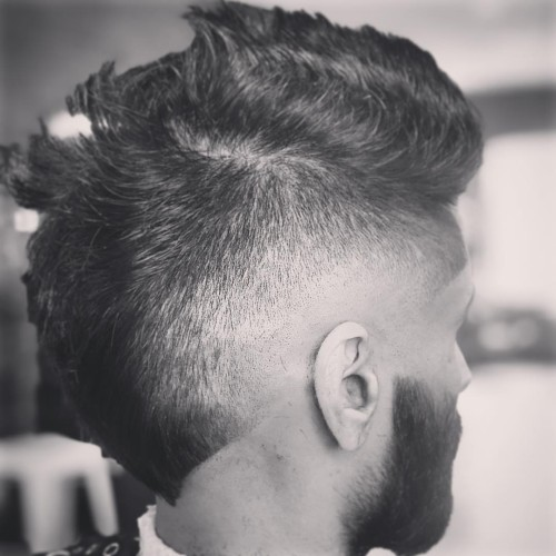 sunburst fade haircut