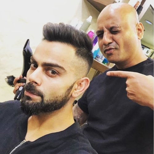 virat kohli hair stylist