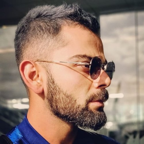 virat kohli hairstyle side cut