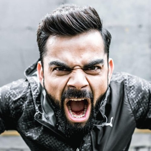 virat kohli short high textured hairstyle