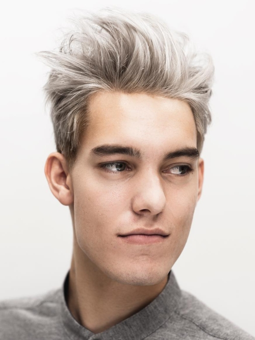 male messy hairstyle grey hair latest messy hairstyles for guys
