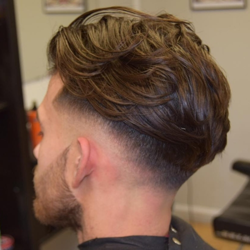 messy hairstyles for men undercut fade high textured layered